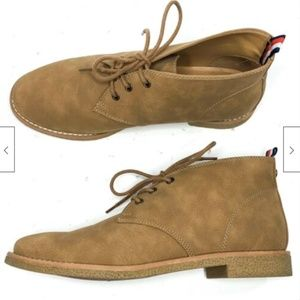 Tommy Hilfiger Benay Faux Leather Chukka Boots Tan